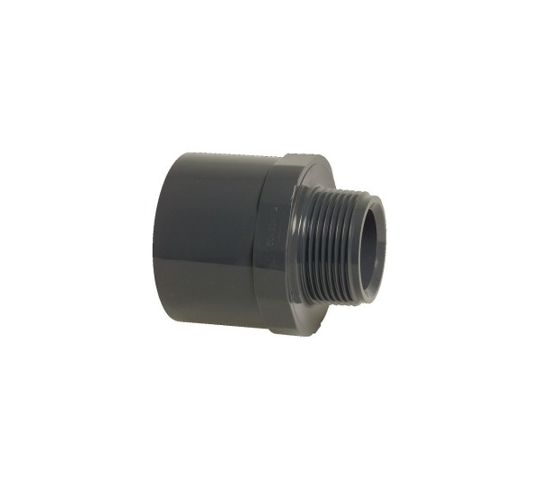 PVC-Übergangsnippel mit Sechskant